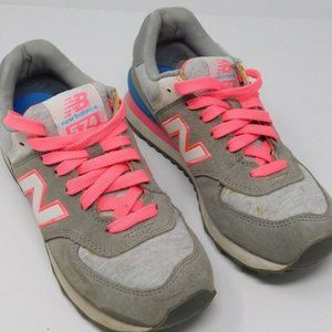New Balance Womens Retro Lovers Sneakers Gray Lace
